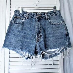 Calvin Klein Jeans med wash denim shorts 30